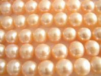 15 Inch Champagne 8mm Potato Fresh Water Pearls